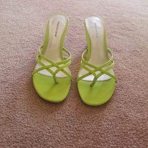 Lime Green Sandle Heels
